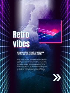 Retro Party Concept Poster 세로형 template