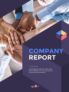 모던한 기업 보고서 세로형 템플릿