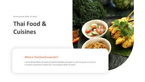 태국 음식 (Thai Food) ppt 템플릿