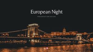 유럽의 밤 16:9 template