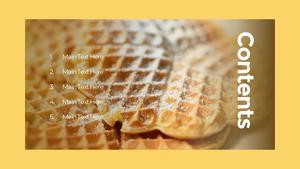 와플 (Waffles) 파워포인트 template