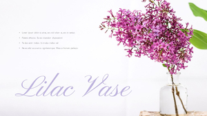 라일락 꽃 (Lilac) 피피티템플릿