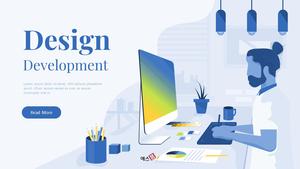 디자인 개발 비즈니스 피치덱 템플릿