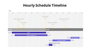 시간별 스케쥴 타임라인 테이블
