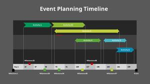 이벤트 계획 타임라인 다이어그램