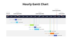 시간별 간트 차트 다이어그램