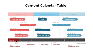 컨텐츠 캘린더 테이블 다이어그램