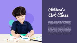 어린이 미술 교실 (아동, 교육) PPT 배경