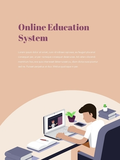 온라인 교육 (Online Education) 세로형
