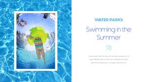 워터파크 Water Parks PowerPoint Template