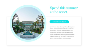 리조트 (The Resort) ppt 템플릿