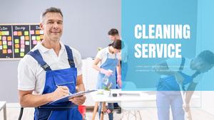 청소 서비스 업체 16:9 template