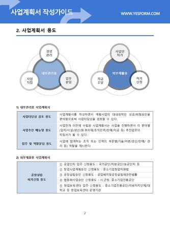 사업계획서 작성가이드 - 섬네일 3page