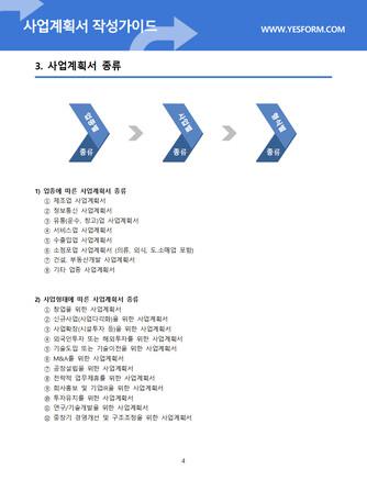 사업계획서 작성가이드 - 섬네일 5page