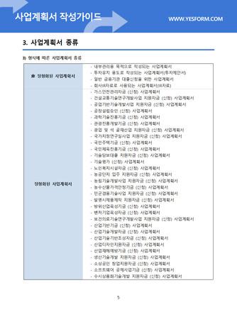사업계획서 작성가이드 - 섬네일 6page