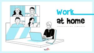 재택근무 (Work at Home) 피피티 배경