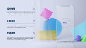 3D 모바일 그래픽 (Graphics) PPT 배경템플릿