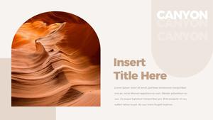 캐니언 (Antelope Canyon) 프리젠테이션 템플릿