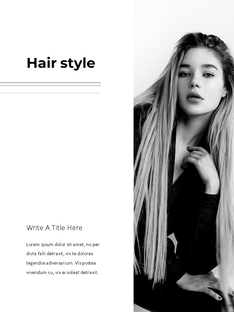 Hair Shop (미용실, 헤어샵) 세로형 파워포인트