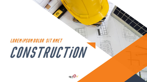 Construction 건설 파워포인트 template