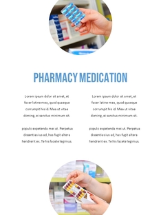 Pharmacy 약국 세로형 템플릿