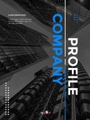 Company Profile Report (기업 리포트) 세로 template