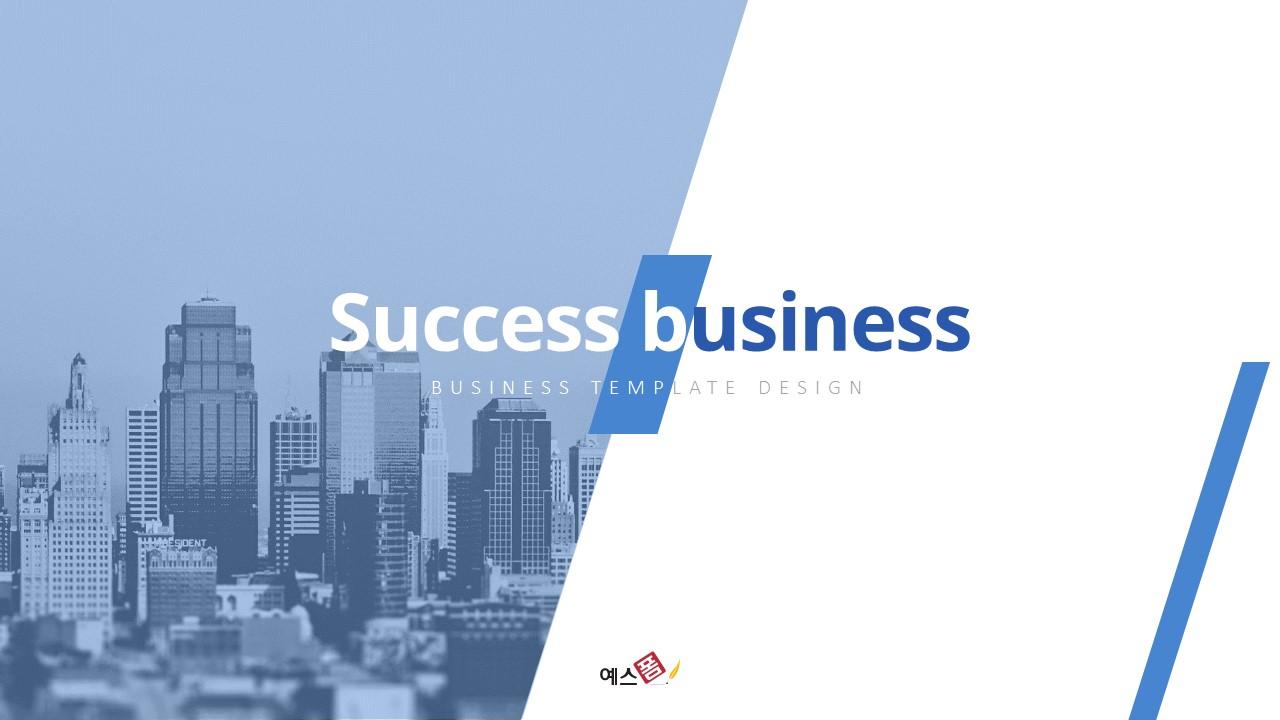Success Business (성공적인 비즈니스) 템플릿-미리보기
