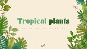 트로피칼 (자연) 일러스트 PPT 표지
