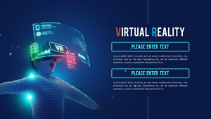 VR 가상현실 (첨단) PPT 배경템플릿