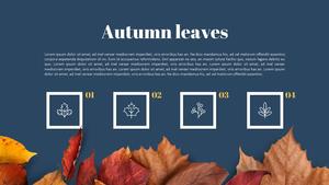가을 낙엽 (계절) Powerpoint 배경