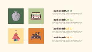 전통 선물 (Korea) 피피티 배경