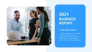 기업 보고서 (Business Report) 프리젠테이션 템플릿