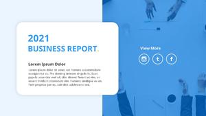 기업 보고서 (Business Report) 프리젠테이션 템플릿 #24