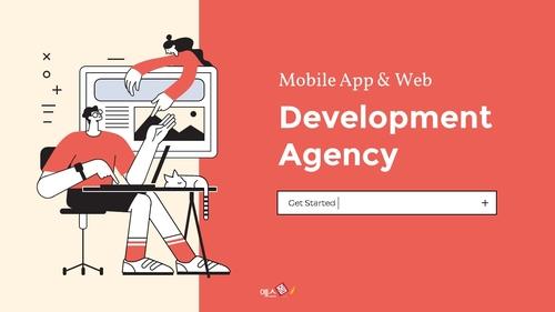 모바일 앱 & 웹 개발 에이전시 피치덱 - 섬네일 1page