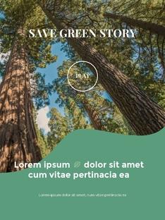 Go Green 에코 프랜들리 파워포인트 세로형 PPT