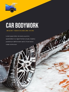 세차장 (Car Wash) 세로 template