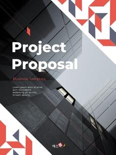프로젝트 제안서 프레젠테이션 세로 템플릿 #1