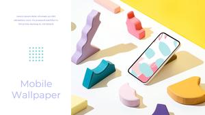 스마트폰 목업 월페이퍼 디자인 template