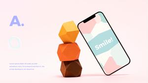 스마트폰 목업 월페이퍼 디자인 template #6
