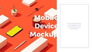 스마트폰 목업 월페이퍼 디자인 template #9