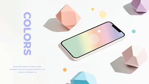 스마트폰 목업 월페이퍼 디자인 template #12
