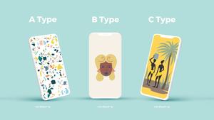 스마트폰 목업 월페이퍼 디자인 template #15
