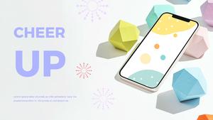 스마트폰 목업 월페이퍼 디자인 template #16
