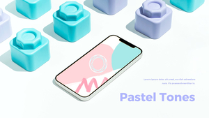 스마트폰 목업 월페이퍼 디자인 template #17