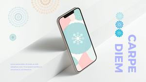 스마트폰 목업 월페이퍼 디자인 template #18