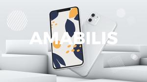 스마트폰 목업 월페이퍼 디자인 template #21