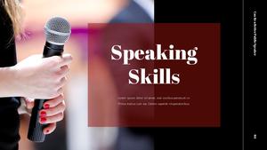 대중 연설 (Speaking) PPT 템플릿