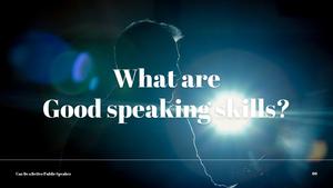 대중 연설 (Speaking) PPT 템플릿 #6