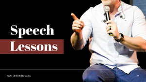 대중 연설 (Speaking) PPT 템플릿 #13