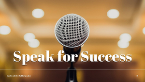 대중 연설 (Speaking) PPT 템플릿 #21
